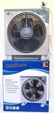 "12"" Oscillating Compact Powerful Box Fan hydroponics office floor tower desk BLT"