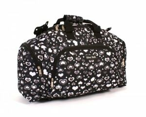 Womens Overnight Travel Holdall Ladies Hand Luggage Cabin Gym Bag Hearts