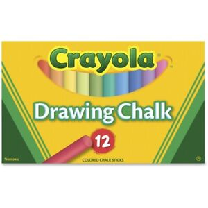 Crayola Colored Drawing Chalk, 12 Colored Chalk Sticks