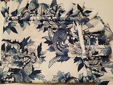 Ralph Lauren Blue & White Ruffled Zippered Pillow Sham Rosette Tamarind
