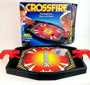 Vintage Crossfire The Rapid Fire Shoot Out Game complete with balls HASBRO