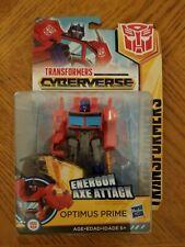Hasbro Transformers Cyberverse Energon Axe Attack Warrior Class OPTIMUS PRIME