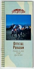 TIZNOW - 2001 STRUB STAKES HORSE RACING PROGRAM FROM SANTA ANITA PARK!