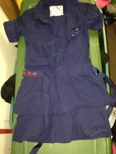 Justice girl size 8  navy blue  with stars uniform or summer dress euc