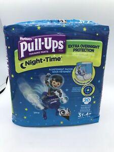 Huggies Pull Ups Nighttime Boys Training Pants Sz 3T-4T 20 Ct Miles Tomorrowland