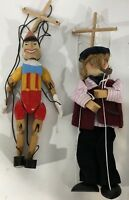 Vintage Extremely Rare Tellon Collections Pinocchio & Geppetto Wooden Marionette