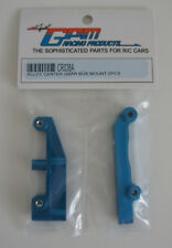 GPM Tamiya CR01 Alloy Centre Gear Box Mount x2 - Blue CR038A