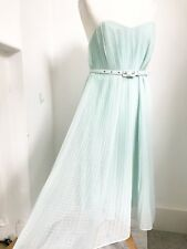 French Connection Pale Green Pleated 'shelby' Dress. 12 Wedding Garden Summer