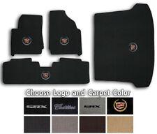 2010-2015 Cadillac SRX 4pc Classic Loop Carpet Floor Mats - Choose Color & Logo