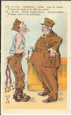 BB-046 WWI French Indigestion trop la Carotte, Military Theme, 1915-18 Postcard