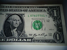 2006 One $1 Dollar Bill *Star* Notes,L .CALIFORNIA-SAN FRANCISCO-UNC -FROM BRICK