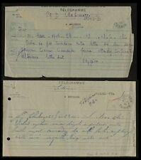 INDOCHINA TELEGRAMS 1944 + 1945 QUANG YEN + LONG BI...OXYGENE