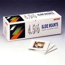 Matin 50pcs 6X4.5cm Film SLIDE MOUNTS 7X7 Format Mounting Case Frame Carousels