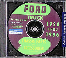 Ford Pickup and Truck Parts Book CD 1948 1949 1950 1951 1952 1953 1954 1955 1956