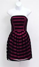 BNWT MORGAN & CO Pink & Black Striped Party Dress net petticoat Size 10, 12 PROM
