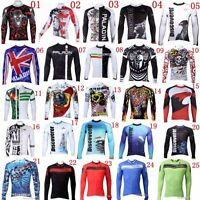 Men Riding Road Bike MTB Cycling Long Sleeve Jerseys Top Shirt Bicycle Maillots