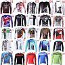 Riding Road Bike Men MTB Cycling Long Sleeve Jerseys Top Shirt Bicycle Clothing