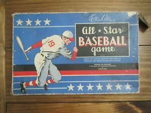 Cadaco-Ellis 1946 All Star Baseball Board Game W/ 42 Player Discs & 2 Pins