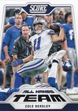 Two card lot 2018 Score Football Cole Beasley All Hands Team Dallas Cowboys #1