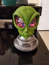 HALLOWEEN ROSWELL ALIEN PLASMA HEAD LAMP ANIMATED PROP 8 INCH TALL