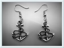 Gorgeous Anchor Earrings,Sea,Sailor,Fun,Nautical,Drop,Pierced,Gift Idea,Unisex