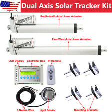 12V Dual Axis Solar Tracking System + Linear Actuator + Electric Lcd Controller