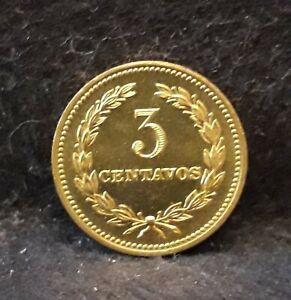 1974 Salvador 3 centavos, bright UNC, KM-148
