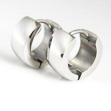Creolen Ohrschmuck Edelstahl silber Paar Ohrringe Bikerschmuck earrings 12 mm