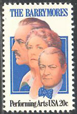SC#2012 - 20c The Barrymores Single MNH