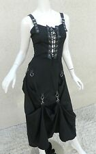 Lip Service Dress Victorian Goth Steampunk Victorian Black Gown Sz Small