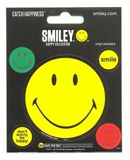 Smiley happy collection vinyle autocollants cardées