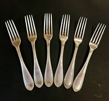 AntiqueSouthern Coin Silver Forks, Set of Six, W. H. Calhoun, Nashville, TN