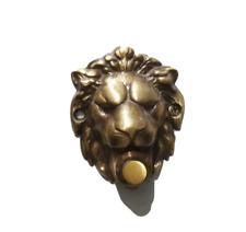 Campanello antichizzato per portone con leone leoncino ottone mm 75x60