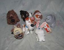 McDonalds Plush Toy Lot 7 Secret Life of Pets - Mel, Buddy, Norman, Max, Chloe