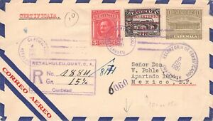 GUATEMALA - REGISTERED AIRMAIL 1931 > MEXICO