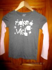 Old Navy gray and light pink long sleeves top in size S ( 7/8) girls