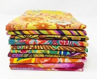 "FreeSpirit KAFFE FASSETT 10 Fat Quarters Fabric  ""Garden Delight"" FQ Bundle"