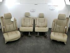 2005 CHEVY TAHOE LEFT AND RIGHT FRONT AND 2ND ROW SEATS TAN LEATHER TORN