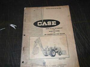 CASE MODEL 33 33S BACKHOE 33 LOADER PARTS MANUAL 580 CONSTRUCTION KING TRACTOR