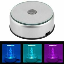 Round 7 LED Unique Rotating Crystal Colorful Light Base Electric Display Stand