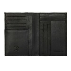 Nuvola Pelle Portafoglio Uomo Nero in Pelle Verticale Porta Documenti e Carte