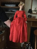 MINT PRINCESS DIANA DOLL IN RED DRESS comes with display case and stand Rare