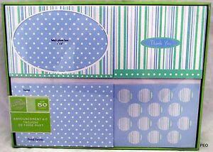 Gartner Baby Boy Invitations Announcement Kit 50 Thank You Cards Envelope Shower