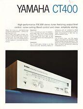 Yamaha CT400 Original Stereo Tuner Brochure 1976