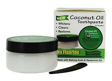Virgin Coconut Oil Toothpaste with Baking Soda and Spearmint - No Fluoride