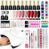 10 Colors Gel Nail Polish Kit Starter Manicure Set UV LED Nail Dryer Lamp Nail A