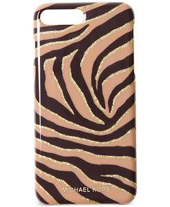 Michael Kors Glitter Zebra iPhone 7 Cover Black Suntan