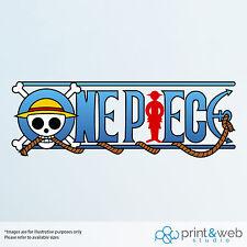 One Piece Logo Wall Decal Sticker Bedroom Vinyl Car Laptop Window Anime