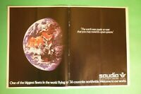 1982 RARE Original Advertising' American SAUDIA SAUDI ARABIAN AIRLINES SPACE