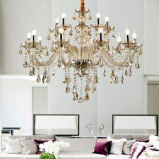 Luxurious 15 Arms Crystal Chandelier Light E12 K9 Crystal Ceiling Pendant Lamp